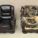 Особенности перетяжки мягкой мебели кожей
